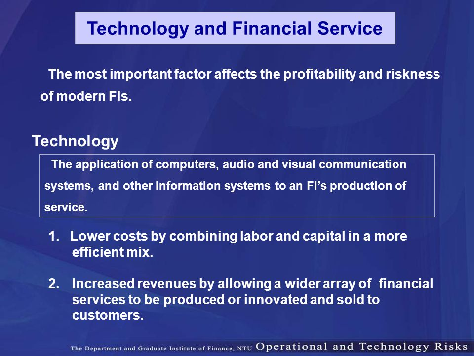 Technology and Financial Service