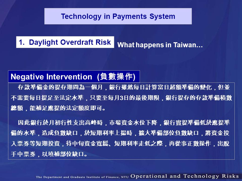 Technology in Payments System