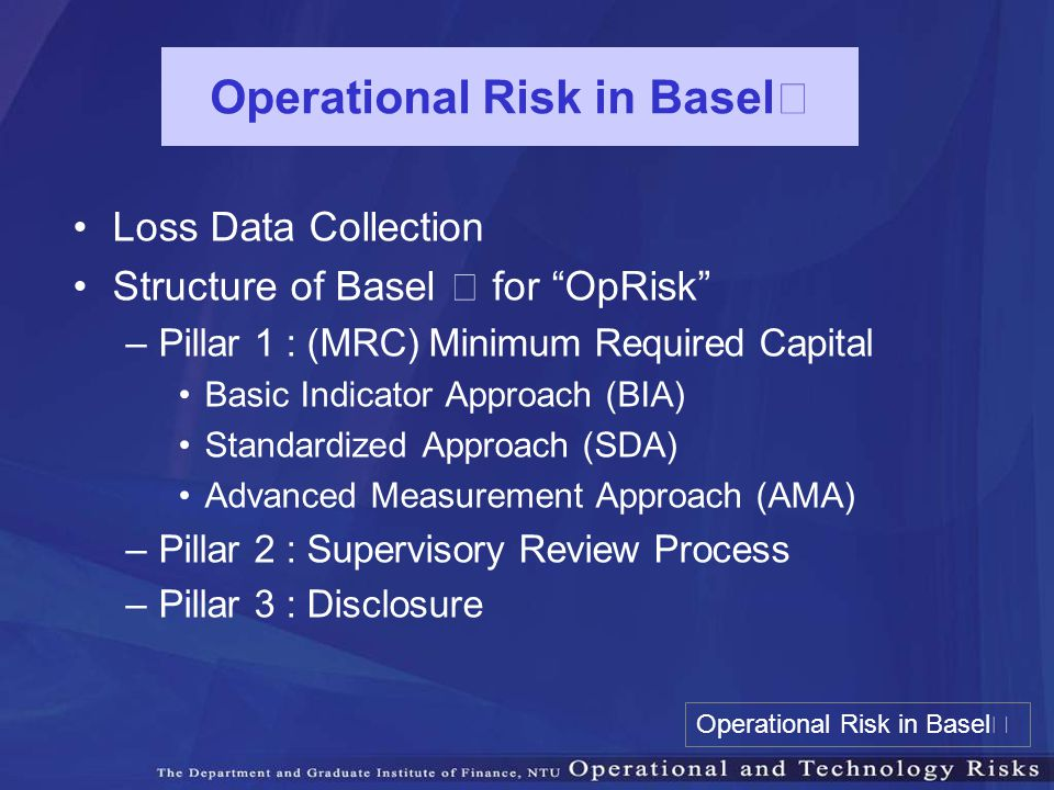 Operational Risk in BaselⅡ