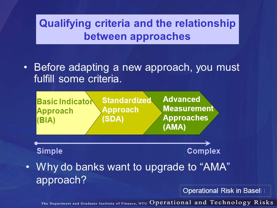 Qualifying criteria and the relationship between approaches