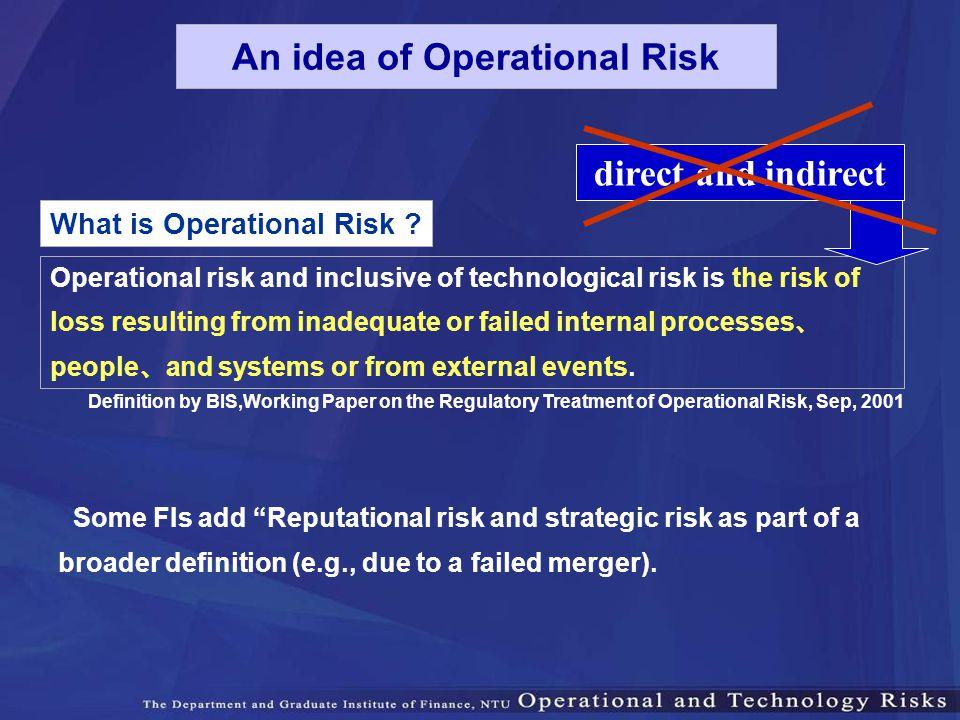 An idea of Operational Risk