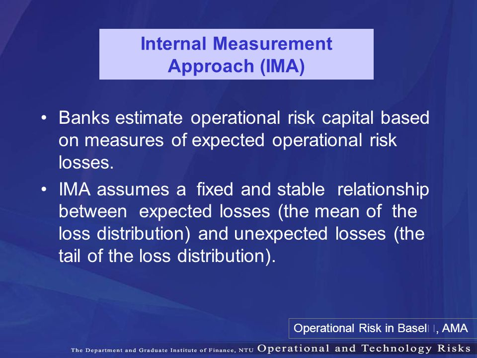 Internal Measurement Approach (IMA)