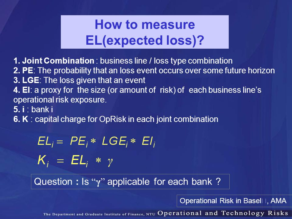 How to measure EL(expected loss)