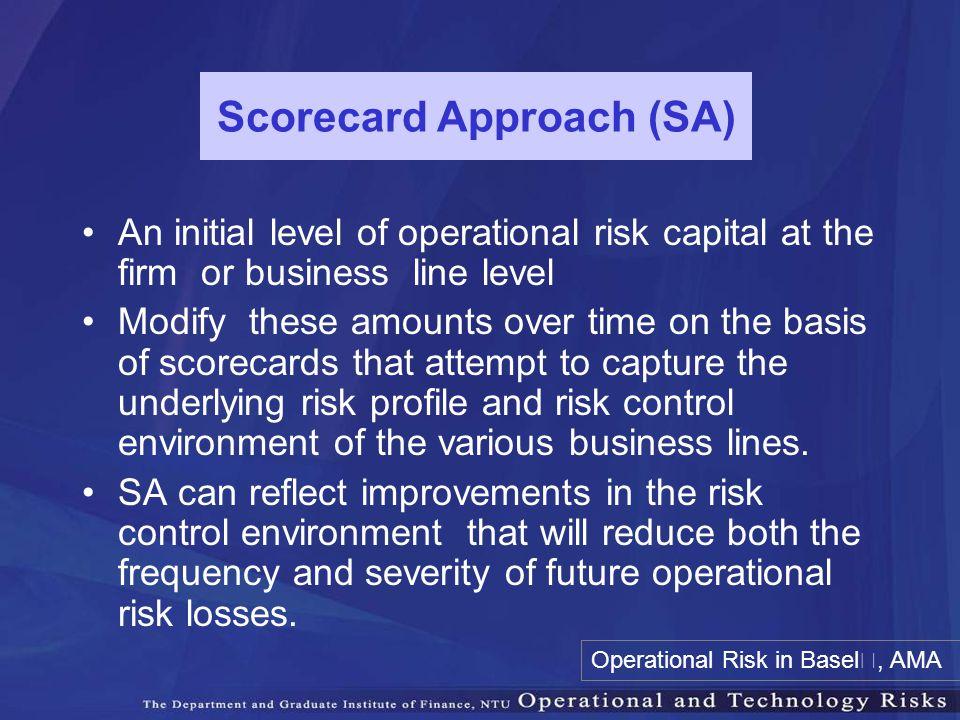 Scorecard Approach (SA)