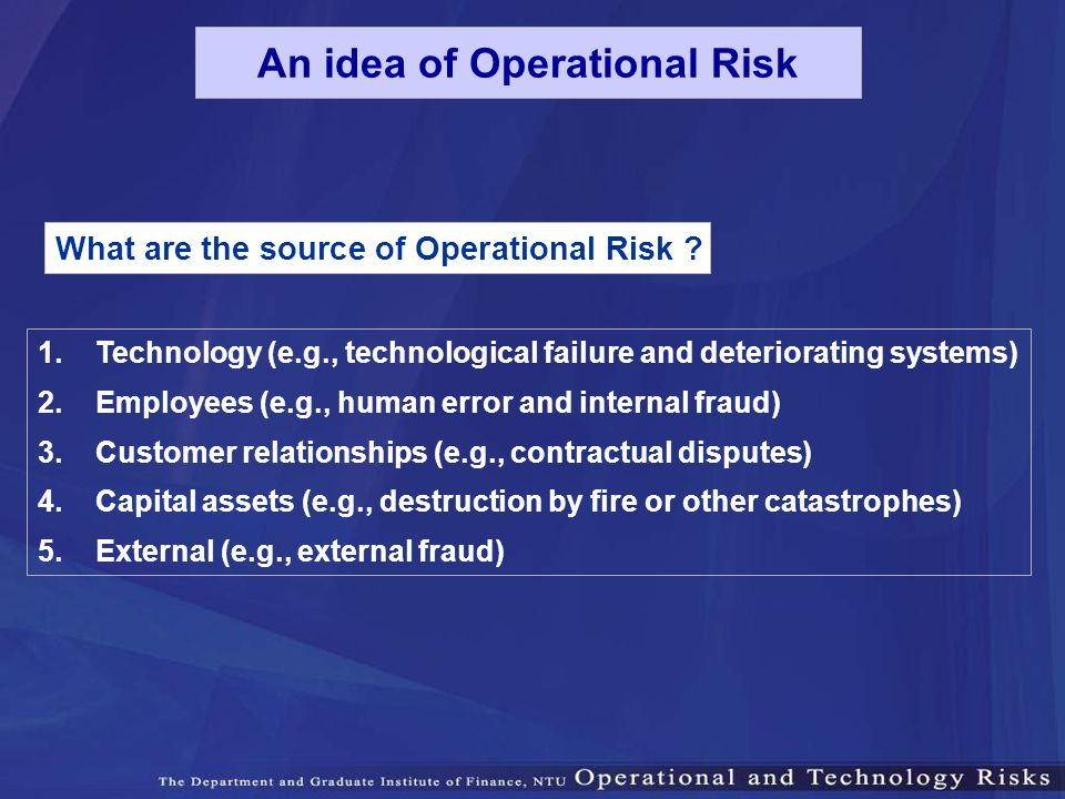 An idea of Operational Risk