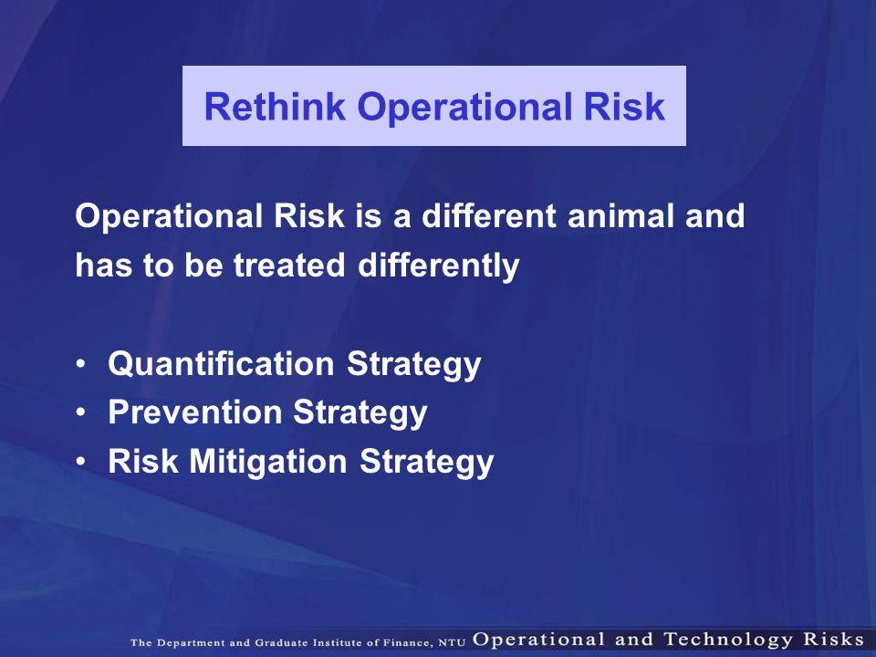 Rethink Operational Risk