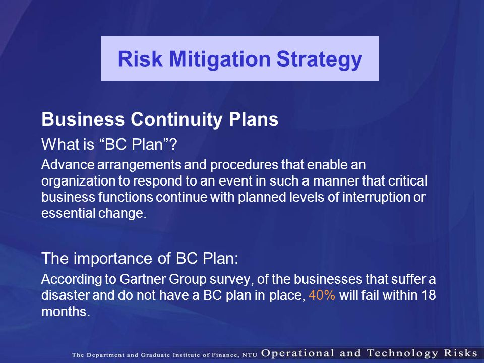 Risk Mitigation Strategy