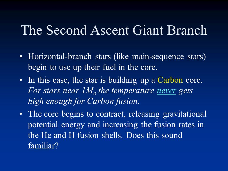 The Second Ascent Giant Branch