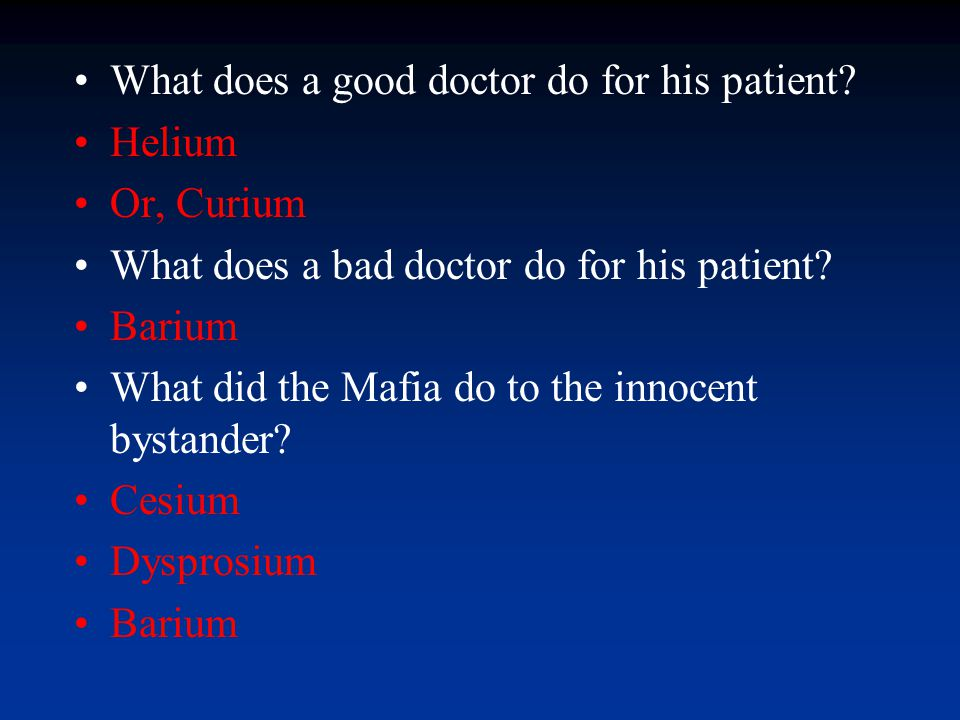 What does a good doctor do for his patient