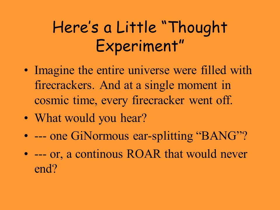 Here's a Little Thought Experiment