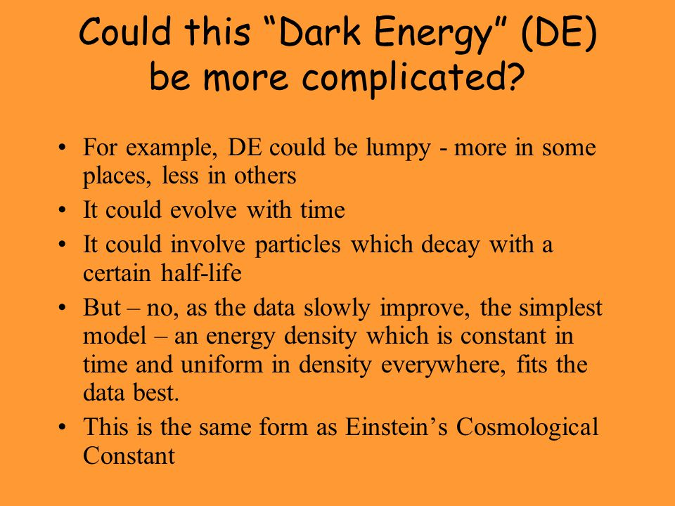 Could this Dark Energy (DE) be more complicated