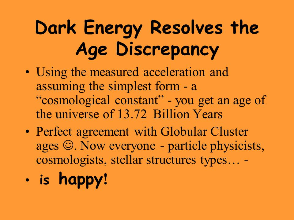 Dark Energy Resolves the Age Discrepancy