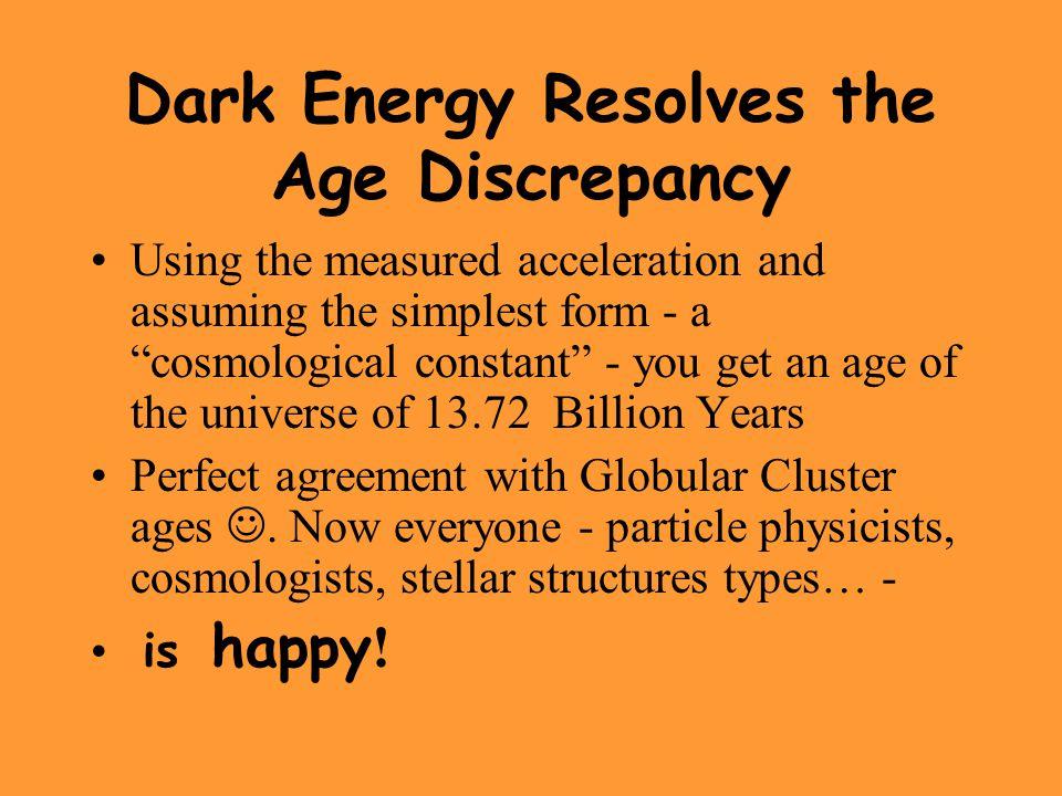 Dark Energy Resolves the Age Discrepancy