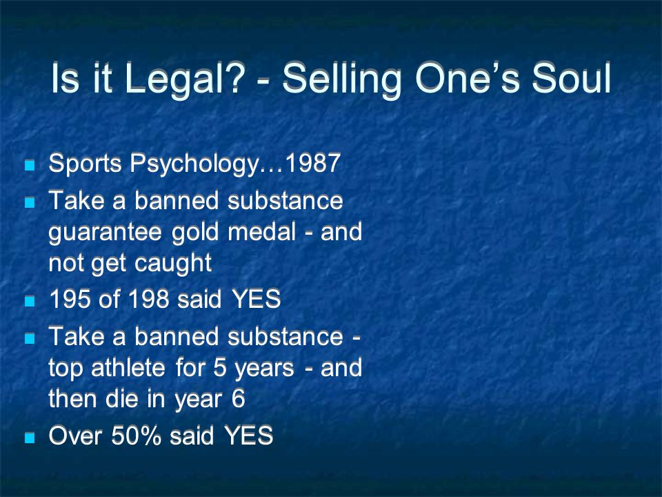 Is it Legal - Selling One's Soul