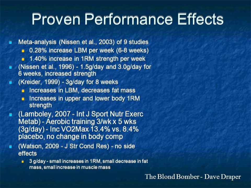 Proven Performance Effects