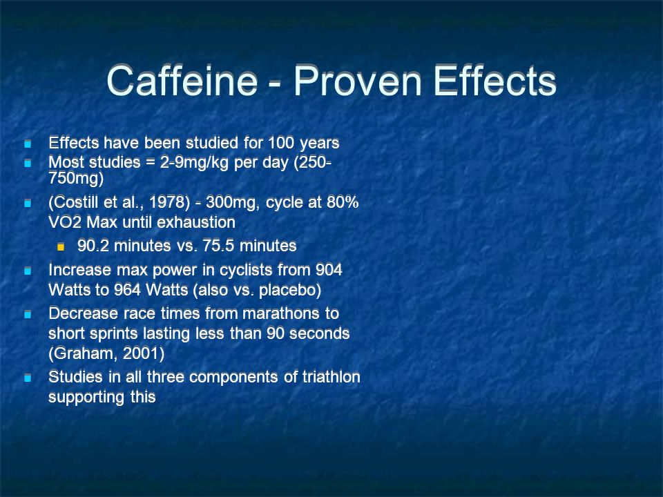 Caffeine - Proven Effects