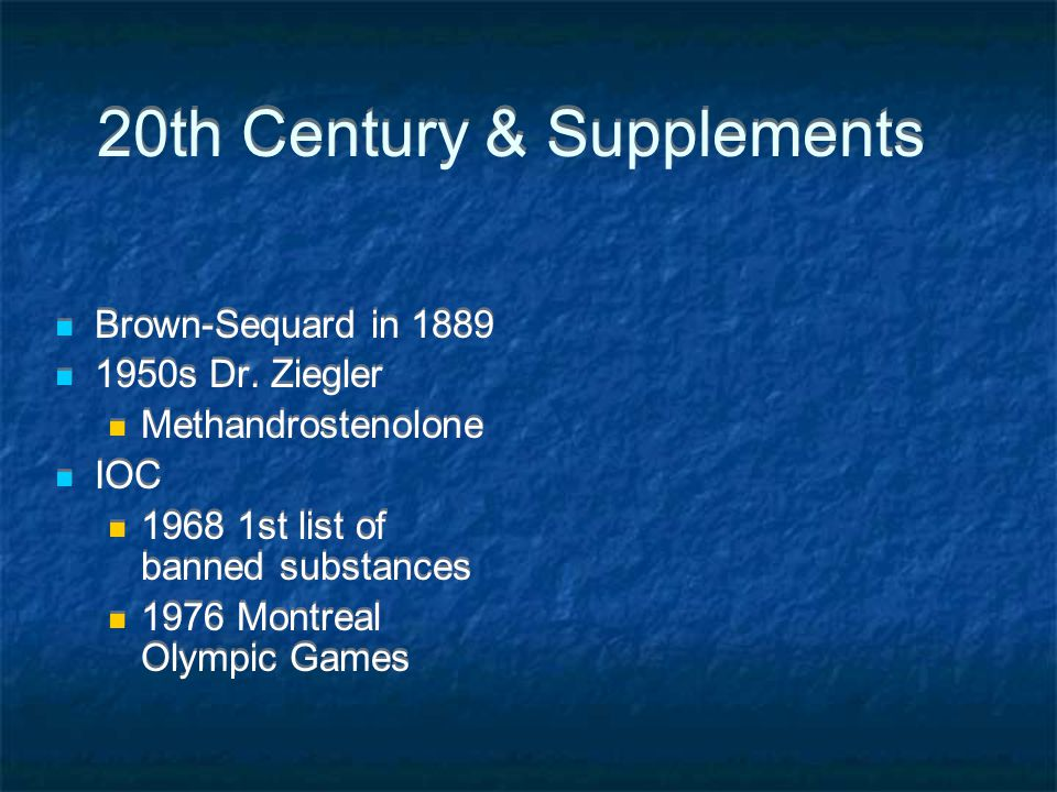20th Century & Supplements