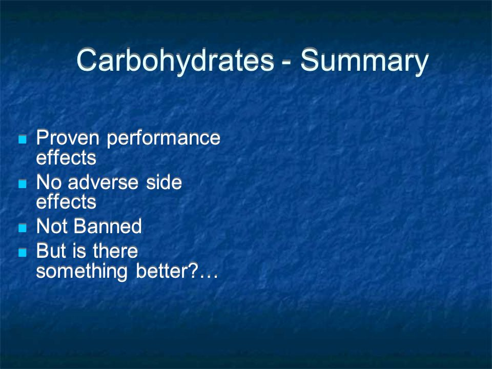Carbohydrates - Summary