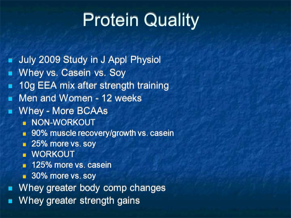 Protein Quality July 2009 Study in J Appl Physiol
