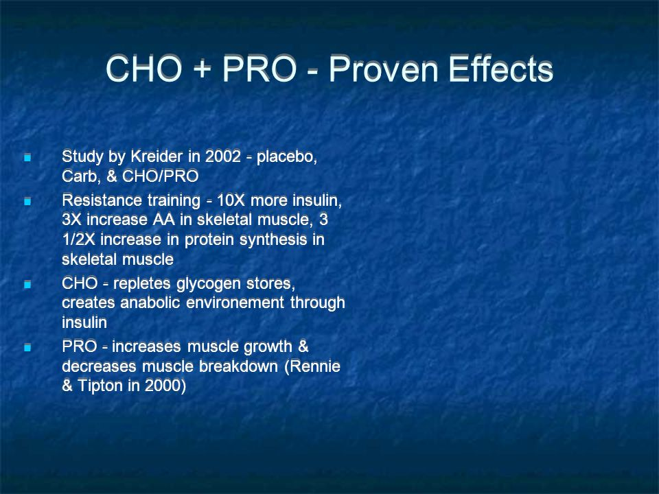CHO + PRO - Proven Effects