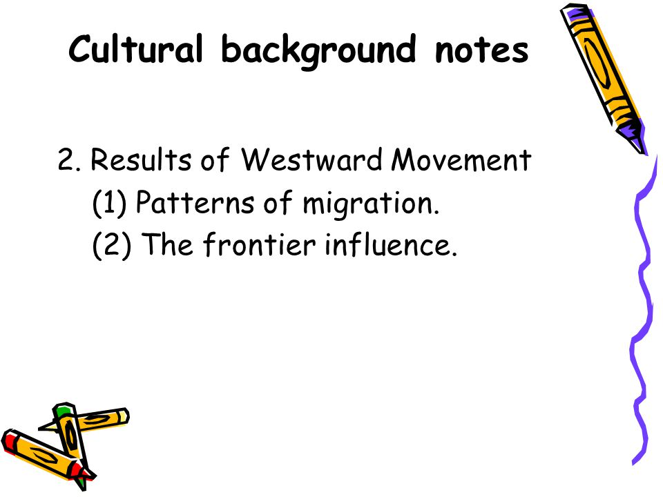 Cultural background notes