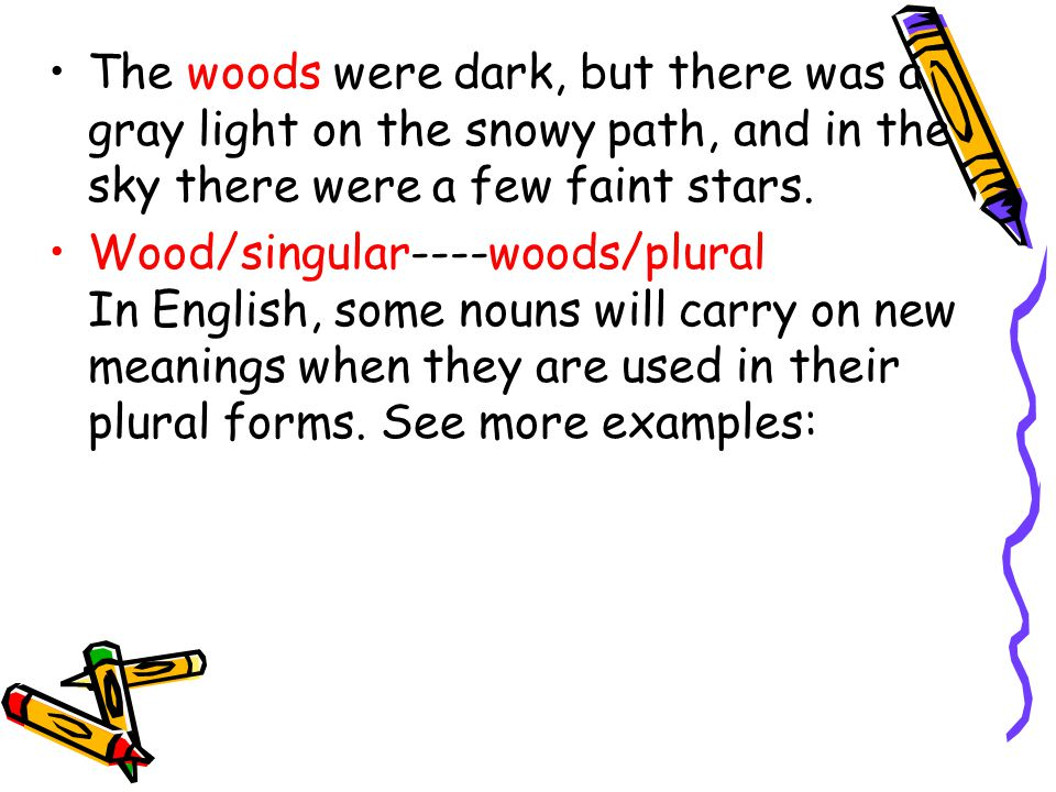 The woods were dark, but there was a gray light on the snowy path, and in the sky there were a few faint stars.