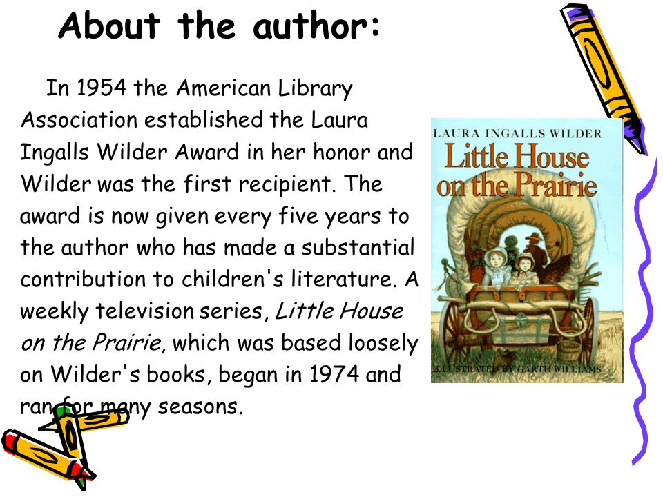About the author: In 1954 the American Library