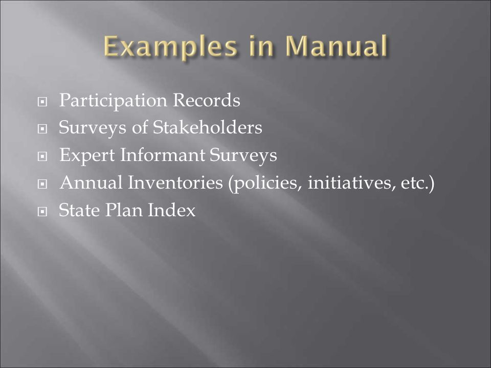 Participation Records