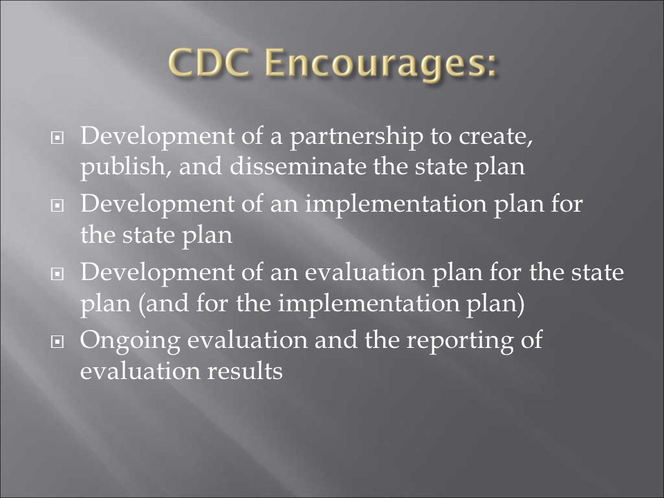 Development of a partnership to create, publish, and disseminate the state plan