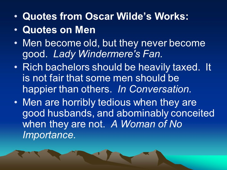 Quotes from Oscar Wilde's Works: