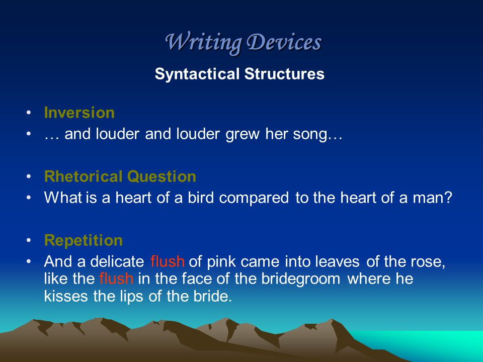 Syntactical Structures