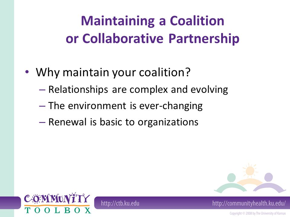 Maintaining a Coalition or Collaborative Partnership