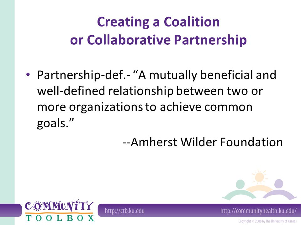 Creating a Coalition or Collaborative Partnership