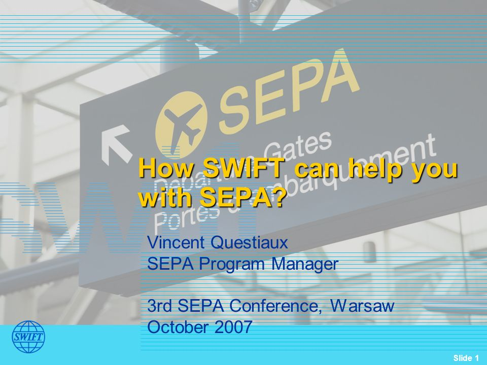 How SWIFT can help you with SEPA