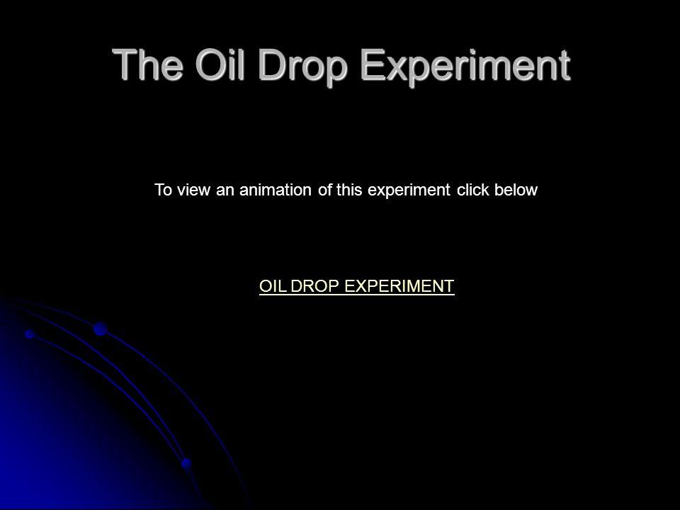 The Oil Drop Experiment