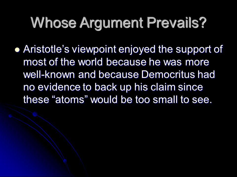 Whose Argument Prevails