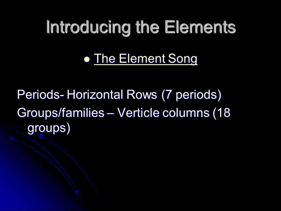 Introducing the Elements