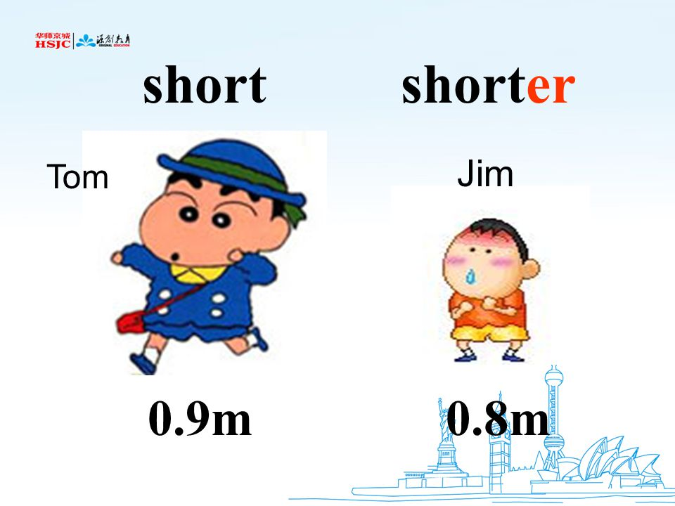 short shorter Jim Tom 0.9m 0.8m