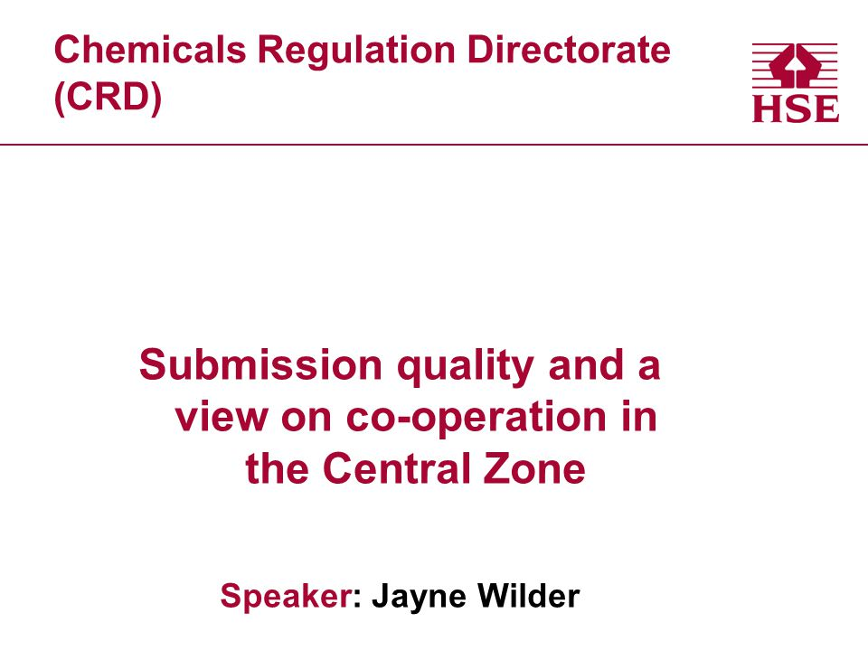 Chemicals Regulation Directorate (CRD)