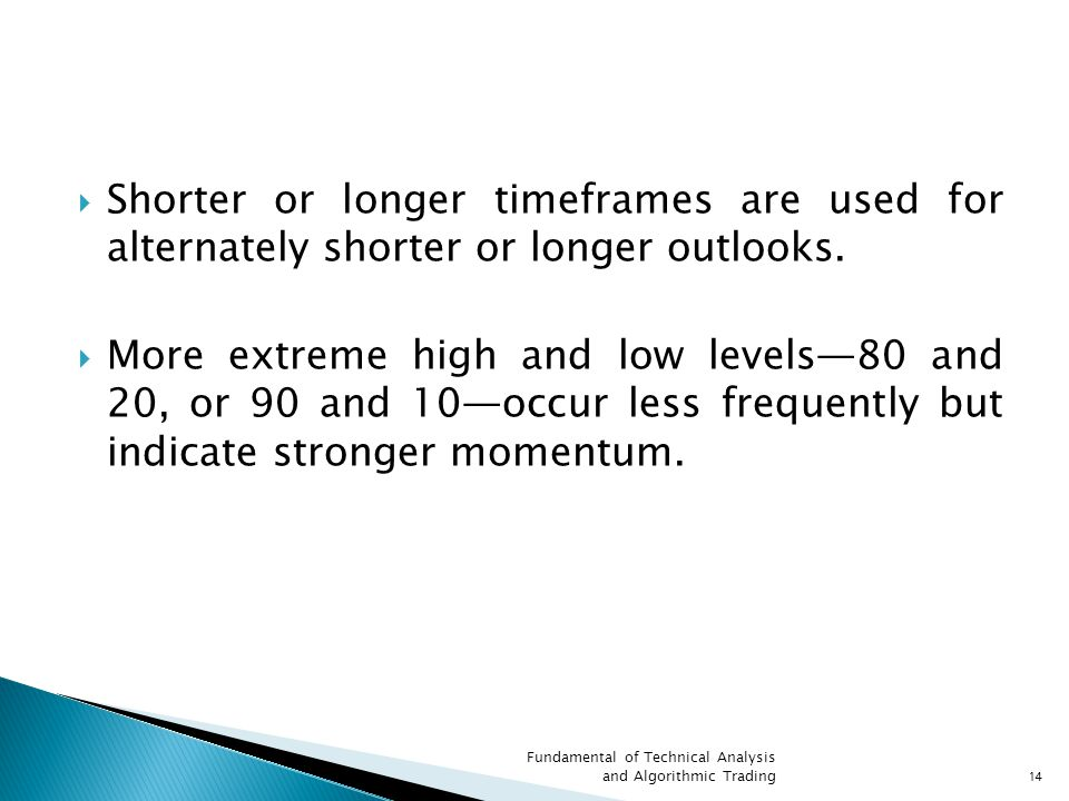 Shorter or longer timeframes are used for alternately shorter or longer outlooks.