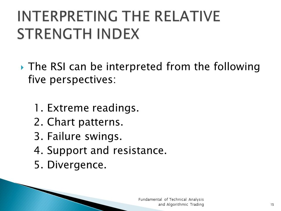 INTERPRETING THE RELATIVE STRENGTH INDEX