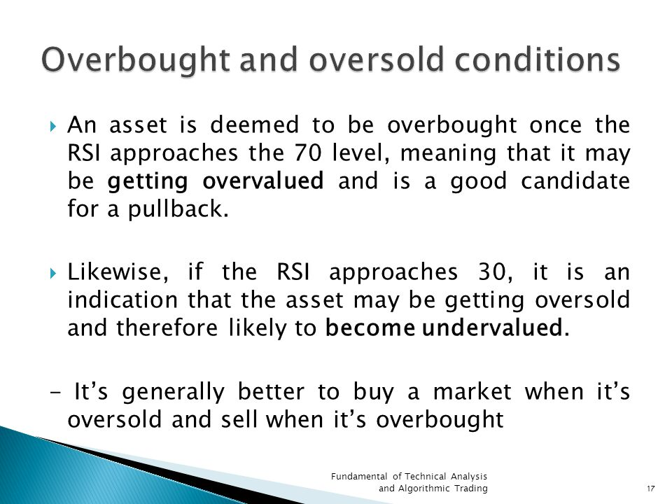 Overbought and oversold conditions