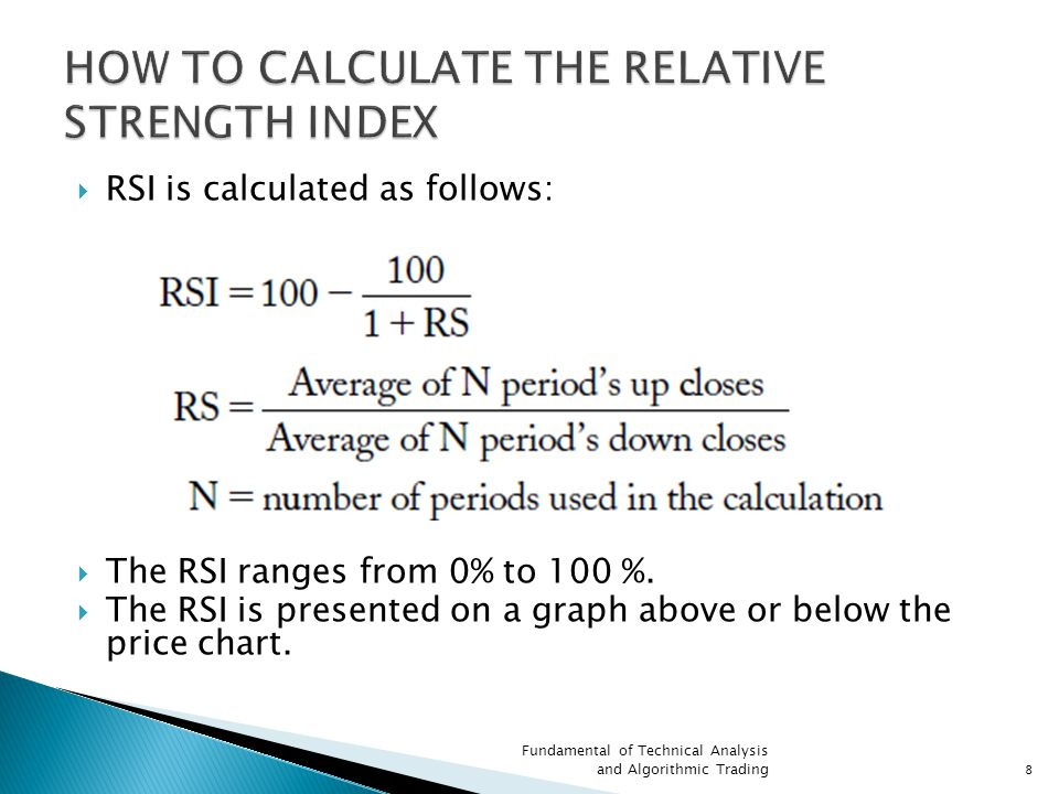 HOW TO CALCULATE THE RELATIVE STRENGTH INDEX