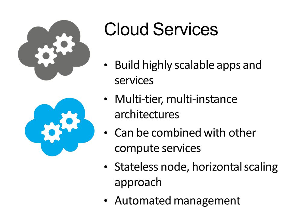 Cloud Services Build highly scalable apps and services