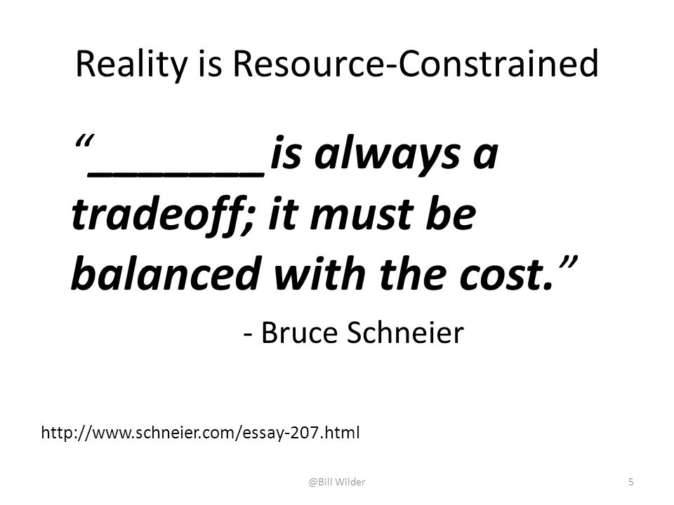 Reality is Resource-Constrained
