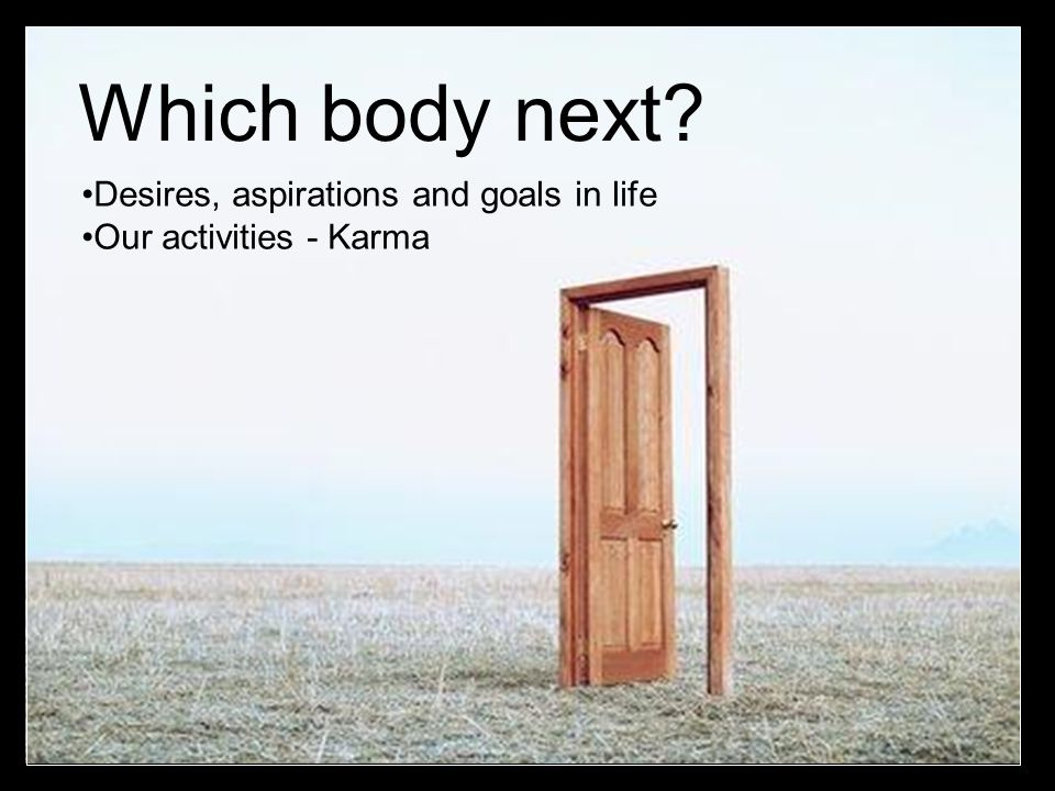 Which body next Desires, aspirations and goals in life
