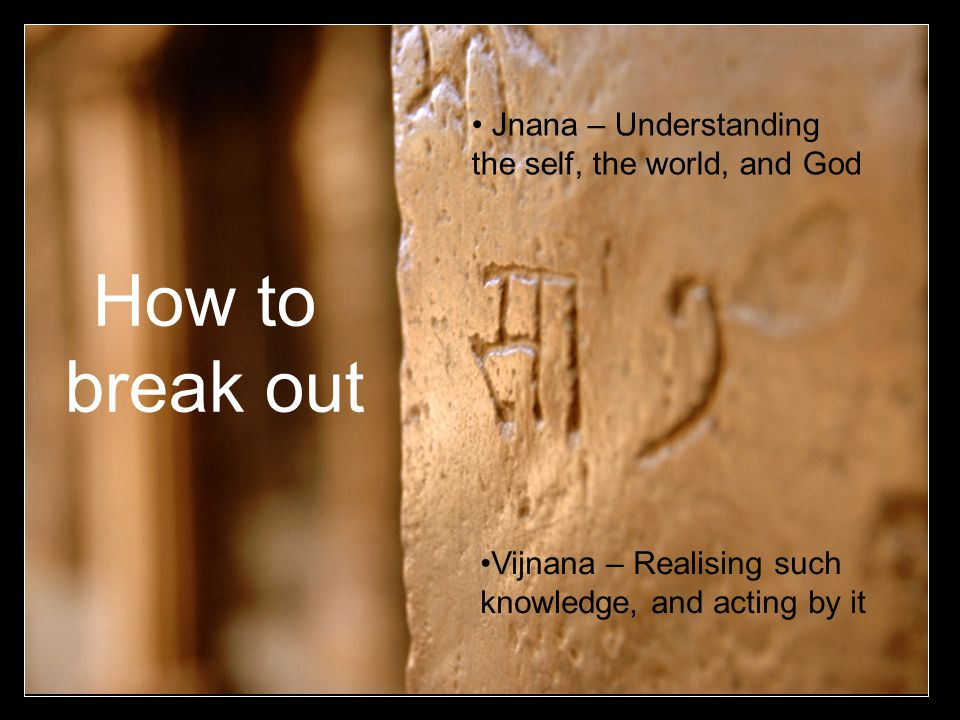 How to break out Jnana – Understanding the self, the world, and God