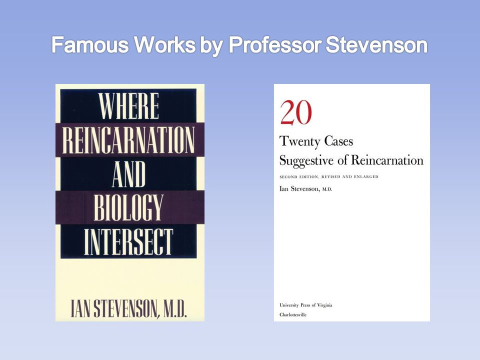 Famous Works by Professor Stevenson