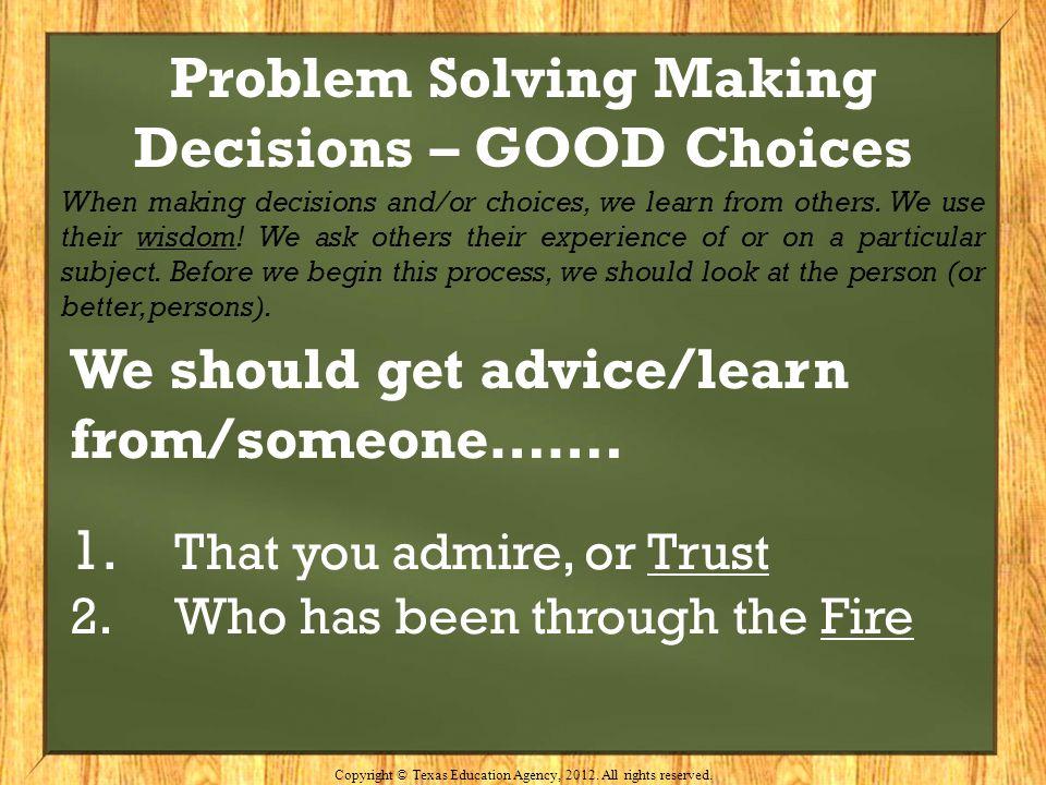 Problem Solving Making