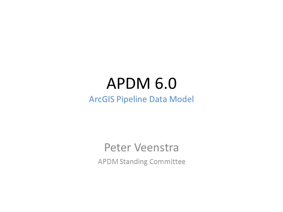 APDM 6.0 ArcGIS Pipeline Data Model